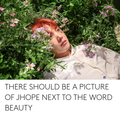 Facebook, Word, and A Picture: TS official facebook  ficial THERE SHOULD BE A PICTURE OF JHOPE NEXT TO THE WORD BEAUTY