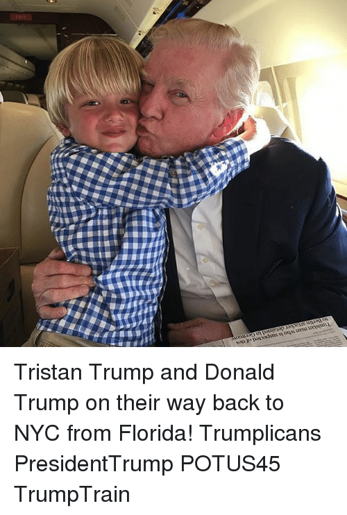 Donald Trump On: Tunisian man who is suspected of ties  to Berlin attacker detained in Germany Tristan Trump and Donald Trump on their way back to NYC from Florida! Trumplicans PresidentTrump POTUS45 TrumpTrain