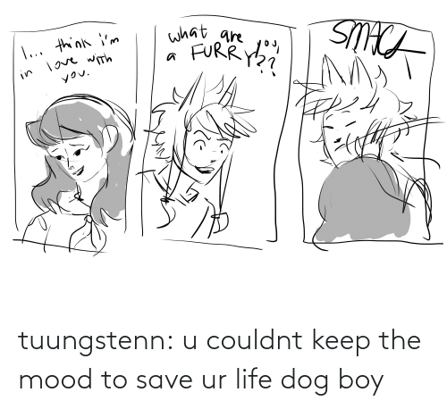 Couldnt: tuungstenn:  u couldnt keep the mood to save ur life dog boy
