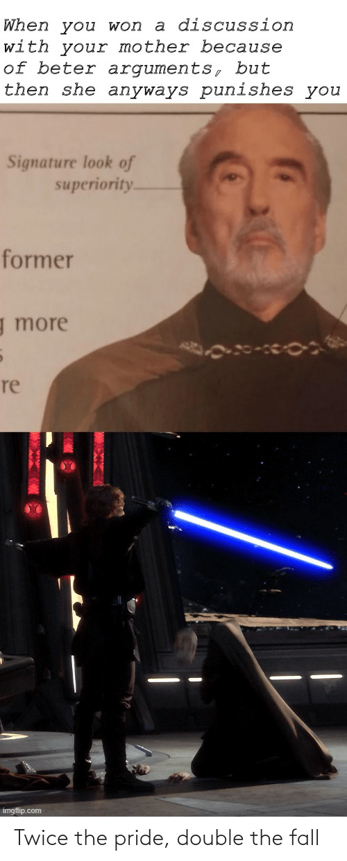 pride: Twice the pride, double the fall