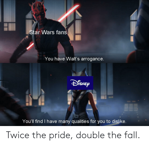 pride: Twice the pride, double the fall.