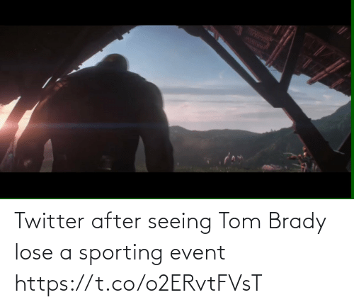 seeing: Twitter after seeing Tom Brady lose a sporting event   https://t.co/o2ERvtFVsT