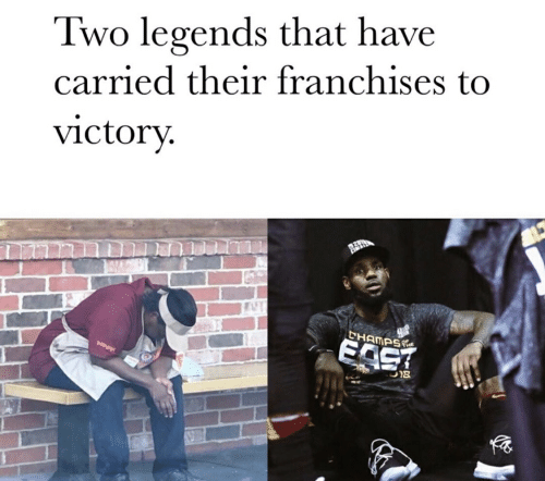 Legends, East, and Franchises: Two legends that have  carried their franchises to  victory  CHAMPS  EAST  U18