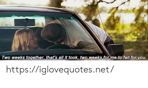 Thats All: Two weeks together, that's all it took, two weeks for me to fall for you. https://iglovequotes.net/