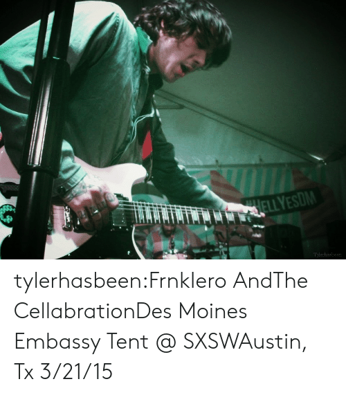 Tumblr, Blog, and Http: Tylerhasbeen tylerhasbeen:FrnkIero AndThe CellabrationDes Moines Embassy Tent @ SXSWAustin, Tx 3/21/15