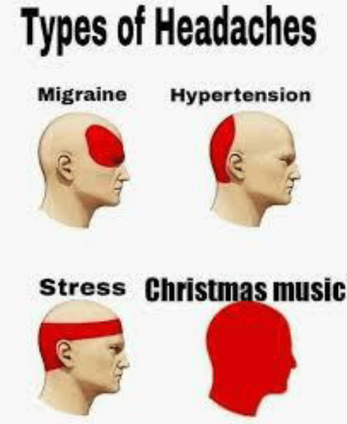 Types Of: Types of Headaches  Migraine  Hypertension  Stress Christmas music