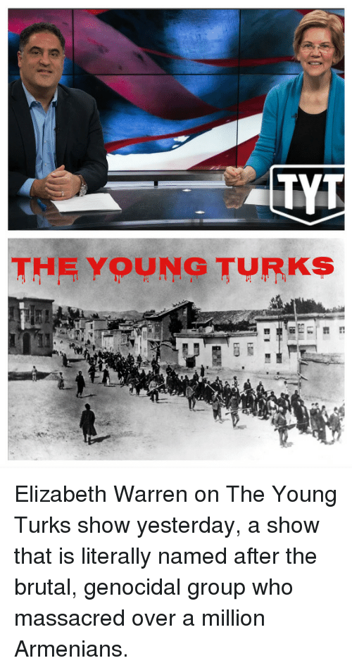 Elizabeth Warren, The Young Turks, and Who: TYT  THE YOUNG TURKS