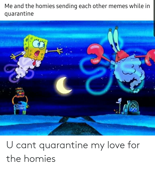 Cant: U cant quarantine my love for the homies