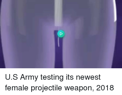 Army, Weapon, and Newest: U.S Army testing its newest female projectile weapon, 2018