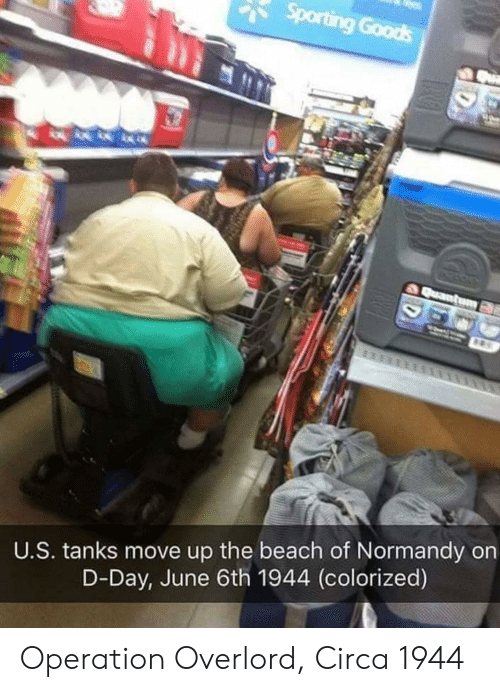 tanks: U.S. tanks move up the beach of Normandy on  D-Day, June 6th 1944 (colorized) Operation Overlord, Circa 1944