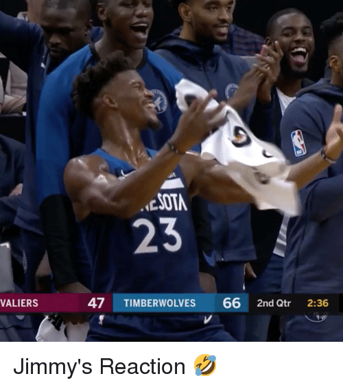 Timberwolves,  Reaction, and Jimmys: uit  ESOTA  23  VALIERS  47 TIMBERWOLVES 66 2nd Qtr 2:36 Jimmy's Reaction 🤣