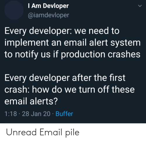 Email: Unread Email pile