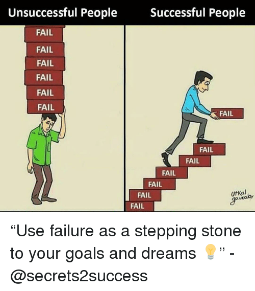 """Fail, Goals, and Memes: Unsuccessful People  Successful People  FAIL  FAIL  FAIL  FAIL  FAIL  FAIL  FAIL  FAIL  FAIL  FAIL  FAIL  FAIL  UtKal  go  FAIL """"Use failure as a stepping stone to your goals and dreams 💡"""" - @secrets2success"""