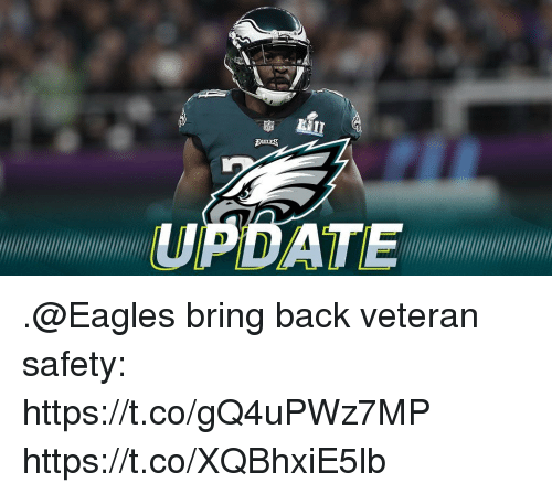 Philadelphia Eagles, Memes, and Back: UPDATE .@Eagles bring back veteran safety: https://t.co/gQ4uPWz7MP https://t.co/XQBhxiE5lb
