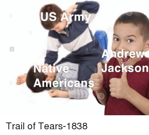 native americans: US Arm  drew  acksorn  Native  Americans  ica Trail of Tears-1838