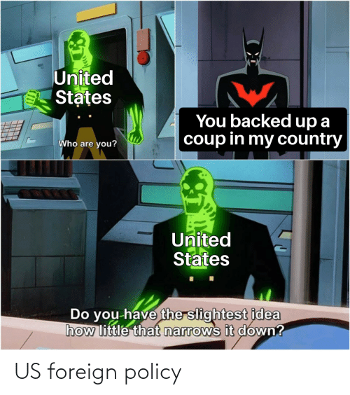 policy: US foreign policy