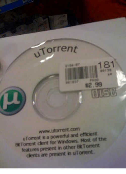 utorrent: uTorrent  www. utorrent com  efficient  uToment is a powerful and Most of the  Bt moment dent for Wndows features present in other BtTorrent  cients are present in uTorrent.