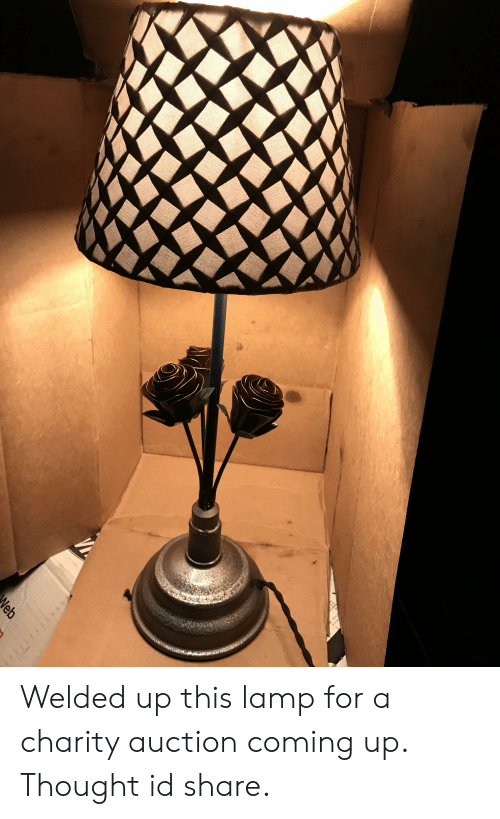 Thought, Lamp, and For: VA  Neb Welded up this lamp for a charity auction coming up. Thought id share.