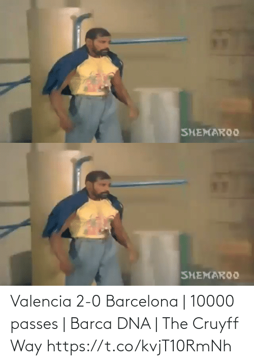 way: Valencia 2-0 Barcelona | 10000 passes | Barca DNA | The Cruyff Way  https://t.co/kvjT10RmNh