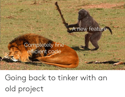 efficient: vAnew featur  Completely fine  efficient code Going back to tinker with an old project