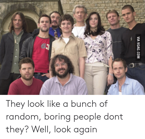 Boring People: VIA 9GAG.COM They look like a bunch of random, boring people dont they? Well, look again