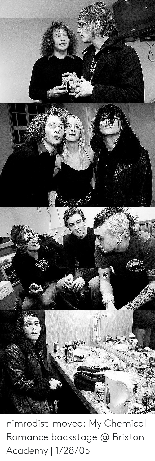my chemical romance: vian nimrodist-moved:   My Chemical Romance backstage @ Brixton Academy | 1/28/05
