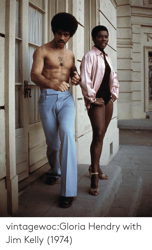 Tumblr, Blog, and Http: vintagewoc:Gloria Hendry with Jim Kelly (1974)