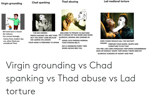 spanking: Virgin grounding vs Chad spanking vs Thad abuse vs Lad torture