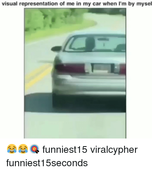 Funny, Car, and Visual: visual representation of me in my car when I'm by mysel 😂😂🎯 funniest15 viralcypher funniest15seconds