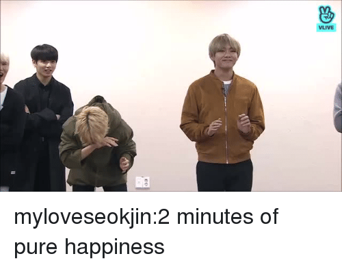 Tumblr, Blog, and Http: VLIVE myloveseokjin:2 minutes of pure happiness