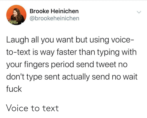 Voice: Voice to text