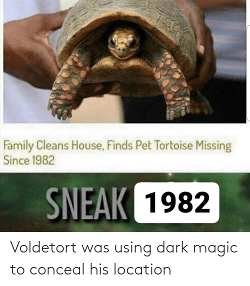 Location: Voldetort was using dark magic to conceal his location