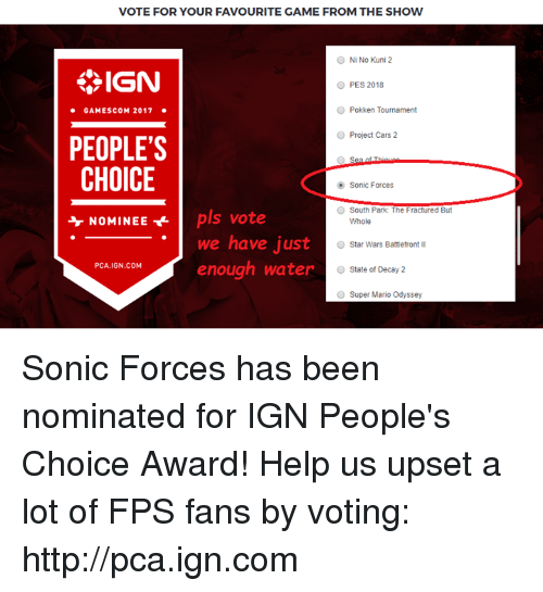 Project Cars  Ign People S Choice Award