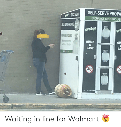 Walmart: Waiting in line for Walmart 🤯