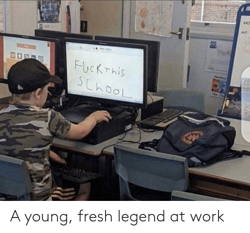 legend: WAL  ALF  Perf  FucKThis  SchooL  Aendana A young, fresh legend at work