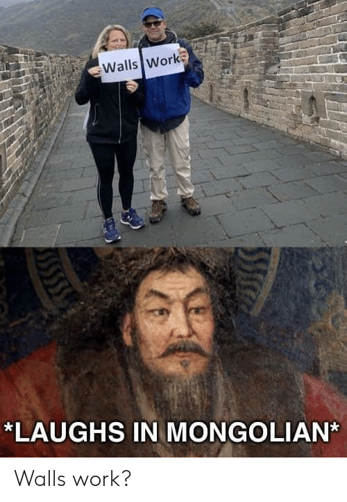 Work, Mongolian, and  Walls: Walls Work  LAUGHS IN MONGOLIAN* Walls work?