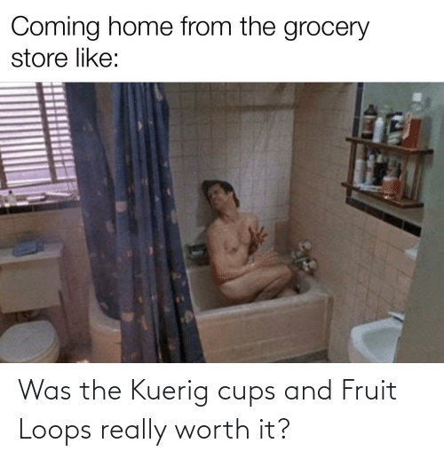 Reddit, Fruit, and Fruit Loops: Was the Kuerig cups and Fruit Loops really worth it?