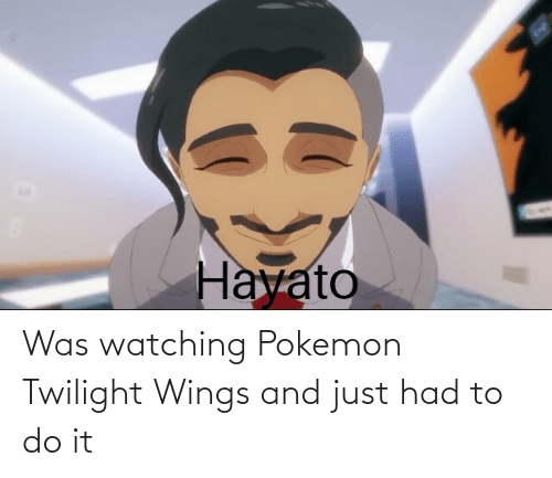 Wings: Was watching Pokemon Twilight Wings and just had to do it