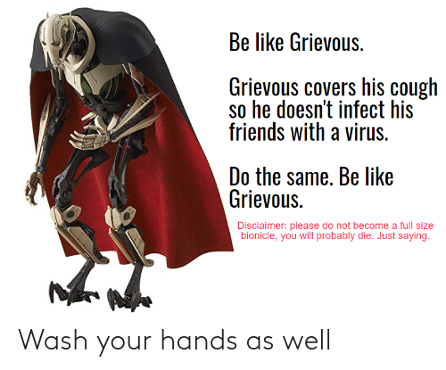 hands: Wash your hands as well