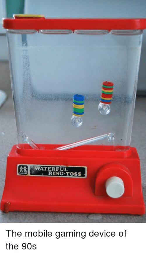 mobile games: WATERFUL  RING TOSS The mobile gaming device of the 90s