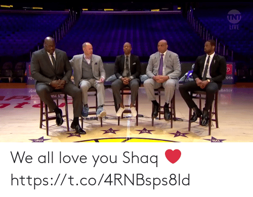 Shaq: We all love you Shaq ❤️  https://t.co/4RNBsps8Id