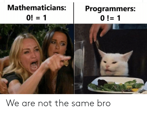 We Are: We are not the same bro