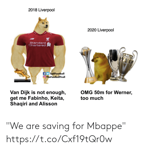 "We Are: ""We are saving for Mbappe""  https://t.co/Cxf19tQr0w"