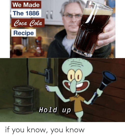 hold up: We Made  The 1886  Coca Cola  Recipe  Hold up if you know, you know
