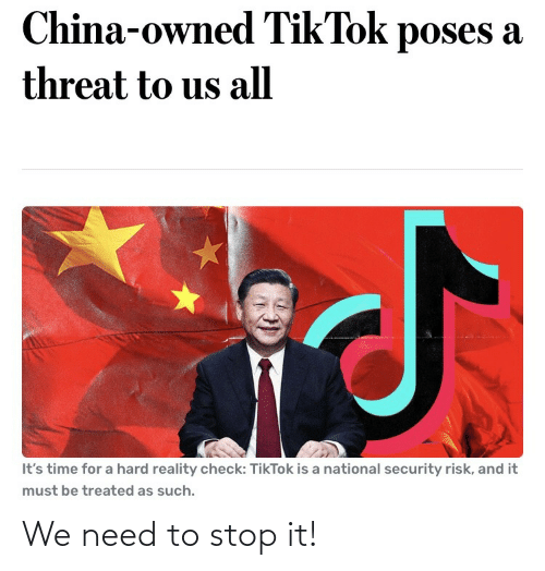 stop it: We need to stop it!