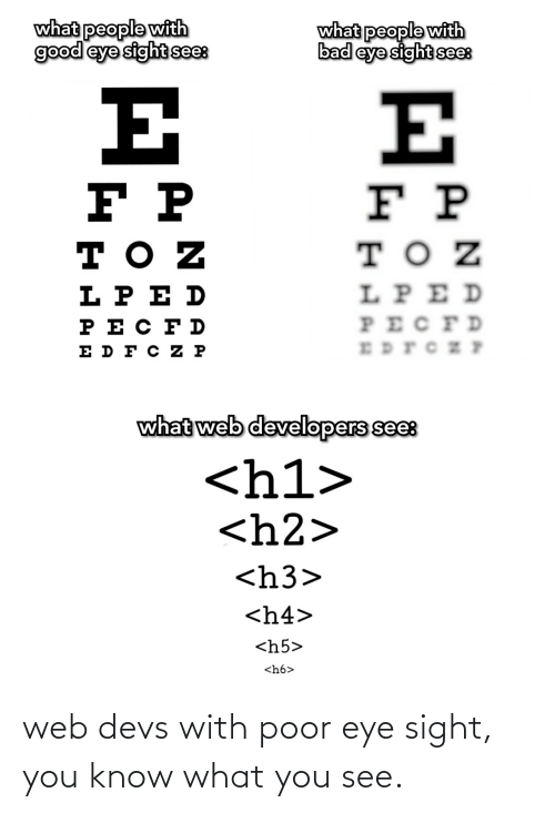 eye: web devs with poor eye sight, you know what you see.