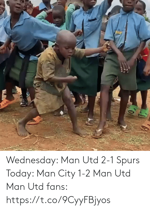 Spurs: Wednesday: Man Utd 2-1 Spurs   Today: Man City 1-2 Man Utd  Man Utd fans:  https://t.co/9CyyFBjyos