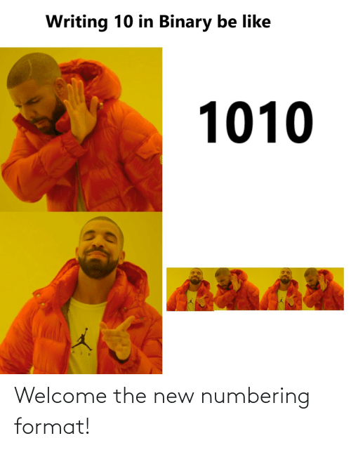 welcome: Welcome the new numbering format!