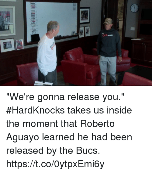 "Memes, Been, and 🤖: ""We're gonna release you.""  #HardKnocks takes us inside the moment that Roberto Aguayo learned he had been released by the Bucs. https://t.co/0ytpxEmi6y"