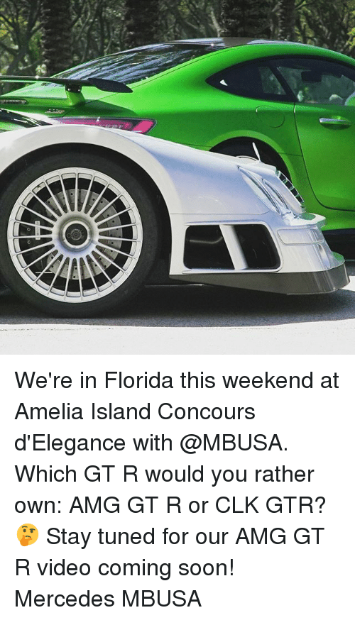 amg: We're in Florida this weekend at Amelia Island Concours d'Elegance with @MBUSA. Which GT R would you rather own: AMG GT R or CLK GTR? 🤔 Stay tuned for our AMG GT R video coming soon! Mercedes MBUSA